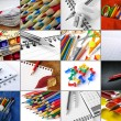 Stationery collage - Stock Photo