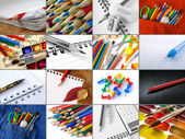Stationery collage — Stock Photo