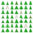 Christmas trees collection — Cтоковый вектор #7958340