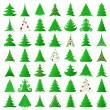 Boże Narodzenie kolekcja drzew — Wektor stockowy