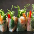Vietnamese rice paper rolls - Zdjcie stockowe