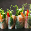 Vietnamese rice paper rolls - Stock Photo