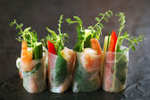 Vietnamese rice paper rolls — Stock Photo
