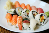 Plate of sushi — Stock Photo