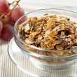 Granola and grape — Stock Photo
