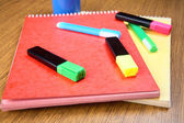 Markers and notebooks — Stock Photo