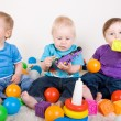 Babies Play With Toys — Foto de Stock
