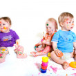 Babies painting - Stock Photo