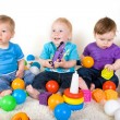 Babies Play With Toys — Stok fotoğraf