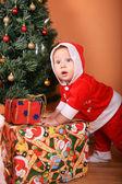 Santa Helper Baby — Stock Photo