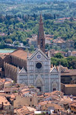 Florence view with Basilica of the Holy Cross — Stock Photo