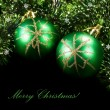 Stock Photo: Green Christmas balls