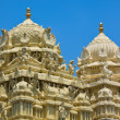 Gopuram (tower) of Hindu temple - Stock Photo