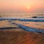 Sunrise on beach — Stock Photo