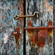 Latch on the door - Stock Photo