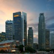 Singapore skyscrapers in evening — Stock Photo
