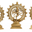 Statues of Shiva Nataraja - Lord of Dance isolated - Stok fotoraf