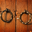 Gate handles close up — Stock Photo