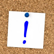 Royalty-Free Stock Photo: White note with question mark pinned to cork board