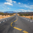 Twisting lane marking on road in desert — Stock Photo #7341626