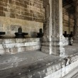 Lingams and columns in Hindu temple — Stock Photo