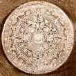 Royalty-Free Stock Photo: Ancient aztec calendar isolated