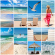 Collage about beach vacations — Stock Photo #7341687