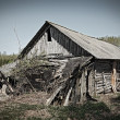 Stock Photo: Ruined abandoned house