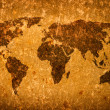 Old grunge world map - Stock Photo
