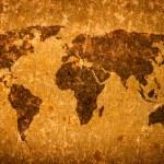 Old grunge world map — Stock Photo