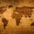 Stock Photo: Old grunge world map