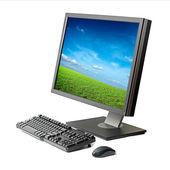 Estação de trabalho do computador isolada — Foto Stock