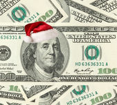 Dollar Santa — Stock Photo