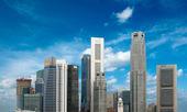 Singapore wolkenkrabbers — Stockfoto