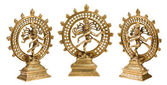 Statues of Shiva Nataraja - Lord of Dance isolated — Stock Photo