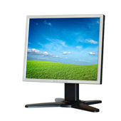 Computer LCD monitor isolated on white background — Stock Photo