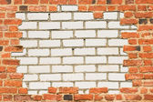Brick wall surrounded with another wall — Stock Photo