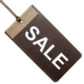 Sale written on black paper tag isolated — Stock Photo