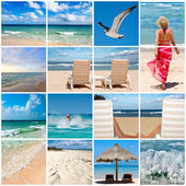 Collage about beach vacations — Stock Photo