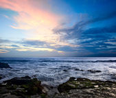 Rocky coast. Sunset — Stock Photo