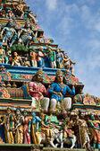 Gopuram (tower) of Hindu temple — Stock Photo