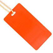 Single cardboard tag isolated — Stock Photo
