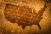 Old grunge map of United States of America — Stock Photo