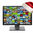 Christmas television - Stock Photo