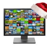 Christmas television — Stock Photo