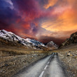 Stock Photo: Road in mountains