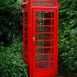Red English telephone booth — Stock Photo