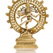 Statue of Shiva Nataraja - Lord of Dance isolated - 图库照片