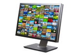 Modern LCD HDTV screen isolated — Stock Photo