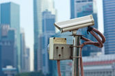 CCTV surveillance camera in Singapore — Stock Photo